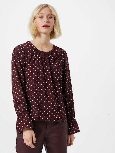 JACQUELINE de YONG Bluse 'Kaya' in dunkelrot / weiß, Modelansicht