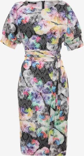 Madam-T Zomerjurk 'ANKARA' in de kleur Antraciet / Sering / Gemengde kleuren, Productweergave