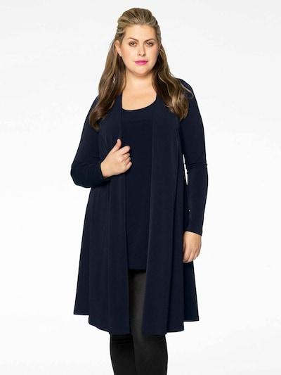 Yoek Knitted Coat 'Dolce' in Dark blue, View model