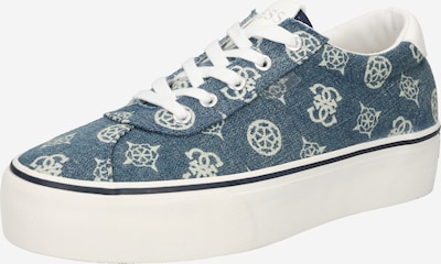 GUESS Sneaker low 'SANAM' i blue denim / hvid, Produktvisning