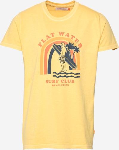 Revolution T-shirt i marinblå / gul / guldgul, Produktvy