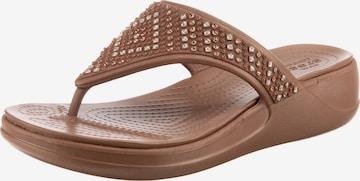 Crocs Zehentrenner 'Monterey' in Bronze