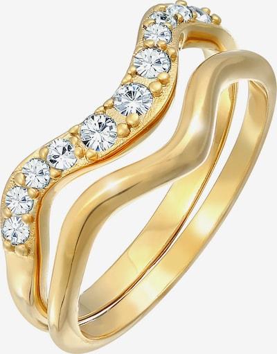 ELLI Ring Kristall Ring, Ring Set in gold, Produktansicht