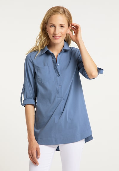 usha BLUE LABEL Bluse in blau, Modelansicht