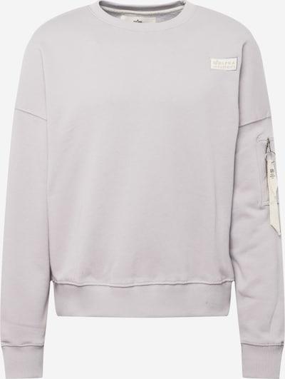 ALPHA INDUSTRIES Sweatshirt in hellgrau / weiß, Produktansicht