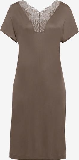 Hanro Kurzarm Nachthemd ' Irini (100cm) ' in braun, Produktansicht