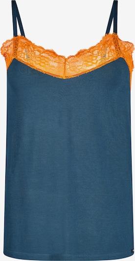 Skiny Top in pastellblau / orange, Produktansicht