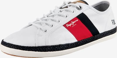 Pepe Jeans Sneaker 'Maui Blucher' in navy / braun / rot / weiß, Produktansicht