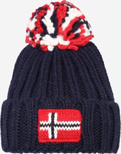NAPAPIJRI Mütze 'SEMIURY' in navy / rot / weiß, Produktansicht