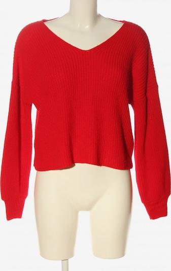 Miss Selfridge V-Ausschnitt-Pullover in M in rot, Produktansicht