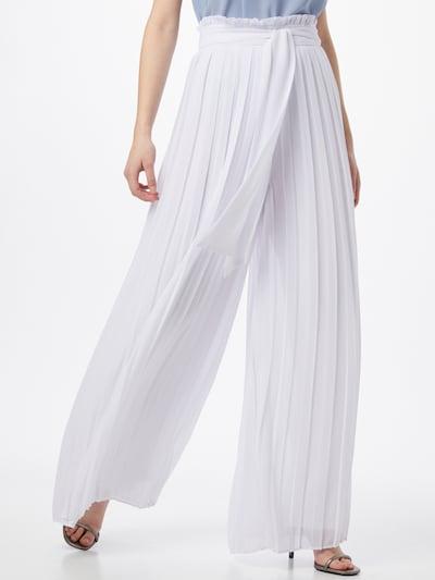 Pantaloni 'LUANA' TFNC pe alb, Vizualizare model
