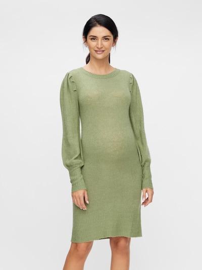 MAMALICIOUS Úpletové šaty 'Neva' - trávově zelená, Model/ka