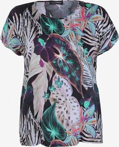 Doris Streich Kurzarmbluse mit Palmen-Print in mischfarben: Frontalansicht
