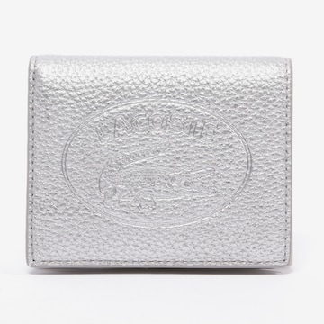LACOSTE Small Leather Goods in One size in Silver