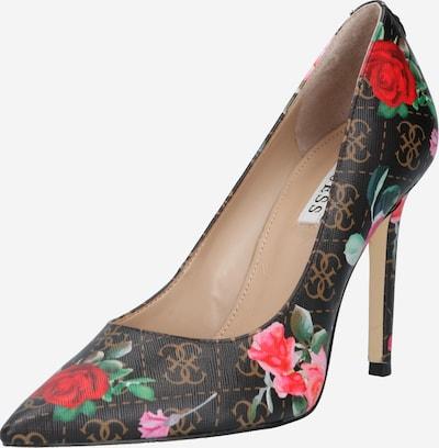 GUESS Augstpapēžu kurpes, krāsa - brūns / jauktu krāsu, Preces skats