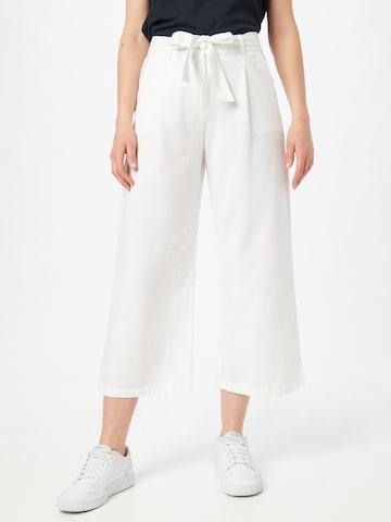 OPUS Voltidega püksid 'Mareika', värv valge