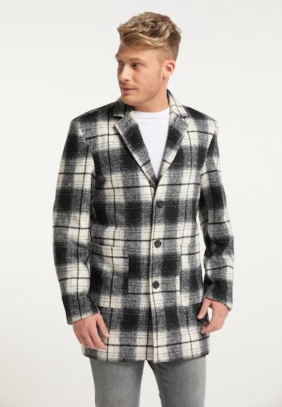 MO Manteau mi-saison en noir / blanc, Vue avec modèle