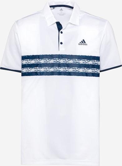 Sportiniai marškinėliai iš adidas Golf , spalva - tamsiai mėlyna jūros spalva / balta, Prekių apžvalga