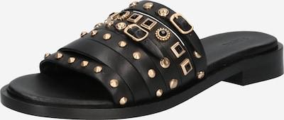 BRONX Pantolette 'THRILL' in goldgelb / schwarz, Produktansicht