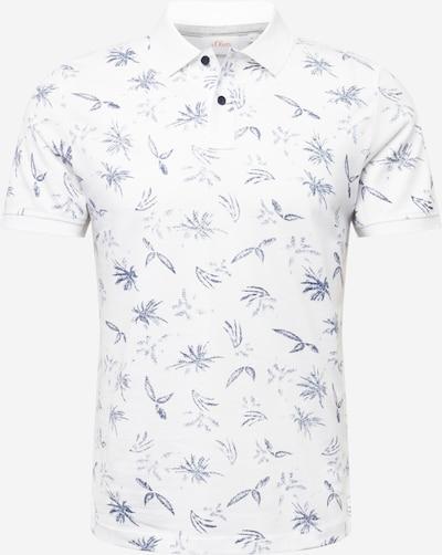 s.Oliver Shirt in blau / weiß, Produktansicht