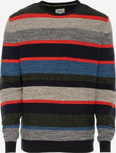 CAMEL ACTIVE Pullover in blau / grau / oliv / rot, Produktansicht