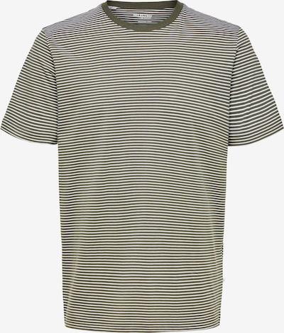 SELECTED HOMME T-Shirt in dunkelgrün / weiß, Produktansicht