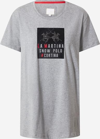La Martina Tričko - šedý melír / grenadina / černá, Produkt