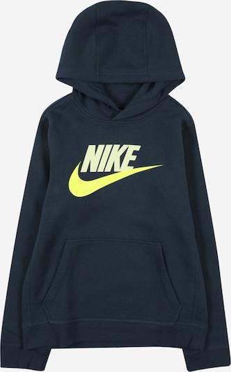 Nike Sportswear Majica 'CLUB' | nočno modra / neonsko rumena / pastelno rumena barva, Prikaz izdelka