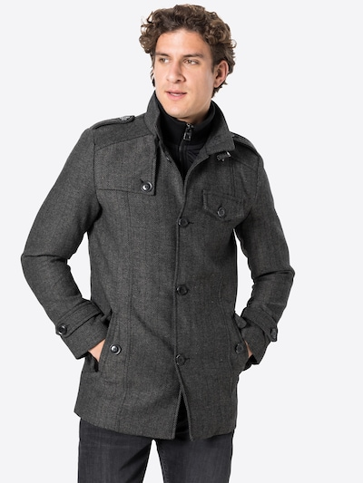 INDICODE JEANS Between-seasons coat 'Alvarez' in black, View model