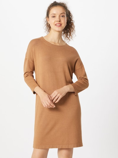 VERO MODA Gebreide jurk 'Glory Vipe Aura' in de kleur Lichtbruin, Modelweergave
