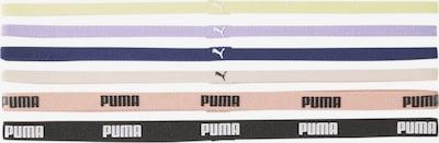 PUMA Bandeau de sport en beige / bleu / jaune / rose / noir, Vue avec produit