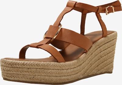INUOVO Sandalen met riem in de kleur Karamel, Productweergave