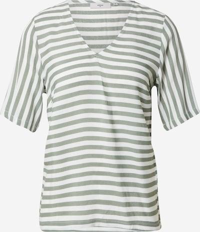 minimum T-Shirt 'Elvire' in oliv / weiß, Produktansicht