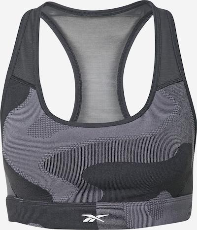 Reebok Sport Urheilurintaliivit 'Lux' värissä harmaa / musta / valkoinen, Tuotenäkymä