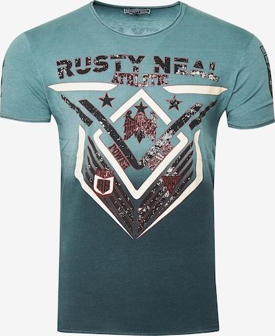 Rusty Neal T-Shirt aus formbeständiger Baumwolle in grau / grün, Produktansicht