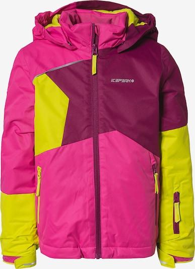 ICEPEAK Sportjacke 'Jian' in gelb / pink / himbeer, Produktansicht