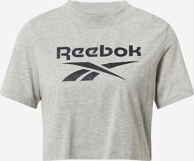 REEBOK Funkcionalna majica | pegasto siva / črna barva, Prikaz izdelka