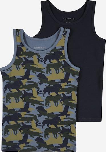 NAME IT Onderhemd in de kleur Lichtblauw / Donkerblauw / Kaki / Lichtgroen, Productweergave