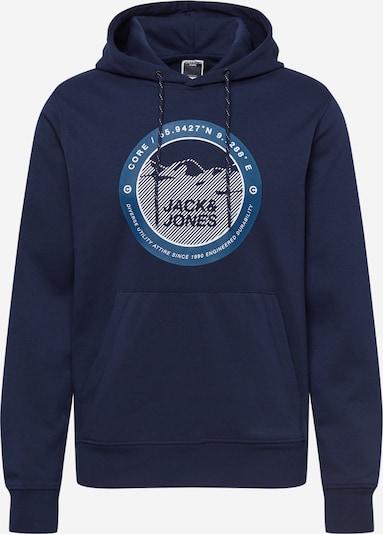 JACK & JONES Sweat-shirt 'BILO' en bleu / bleu marine / blanc, Vue avec produit