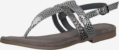 MARCO TOZZI Sandale in silbergrau, Produktansicht