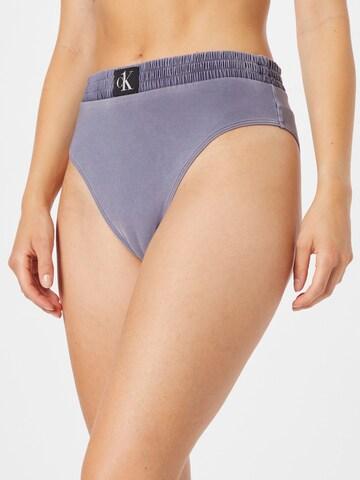 Calvin Klein Swimwear Bikinibroek in Blauw