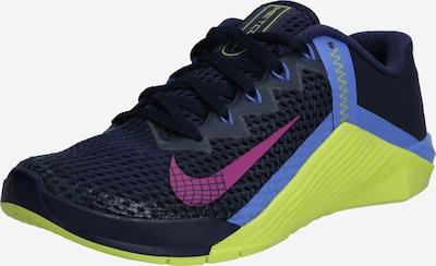 NIKE Спортни обувки 'Metcon 6' в кобалтово синьо / киви / розово / червено-виолетово: Изглед отпред