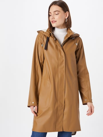 ILSE JACOBSEN Between-Seasons Coat in Brown