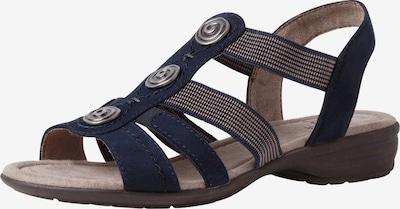 JANA Sandales en beige / bleu marine, Vue avec produit
