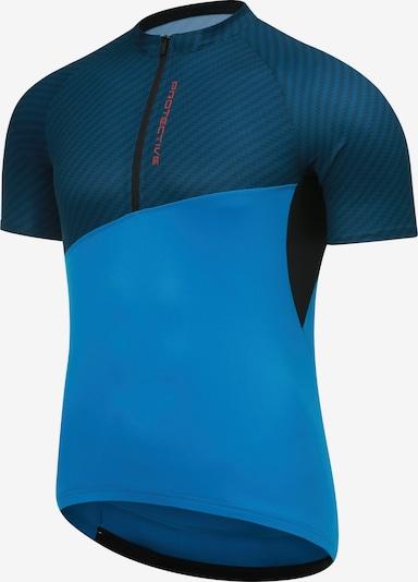 PROTECTIVE Trikot in blau / dunkelblau / orange / schwarz: Frontalansicht
