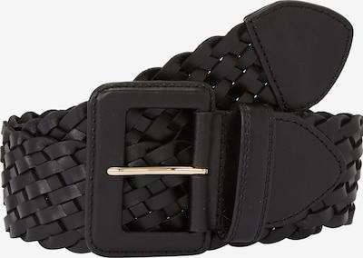 s.Oliver BLACK LABEL Flechtgürtel aus Leder in schwarz, Produktansicht