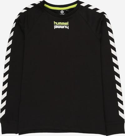 Hummel Shirt 'Sebastian' in hellgelb / schwarz / weiß, Produktansicht