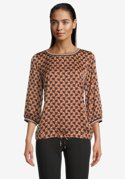 Betty Barclay Bluse in orange / schwarz, Modelansicht