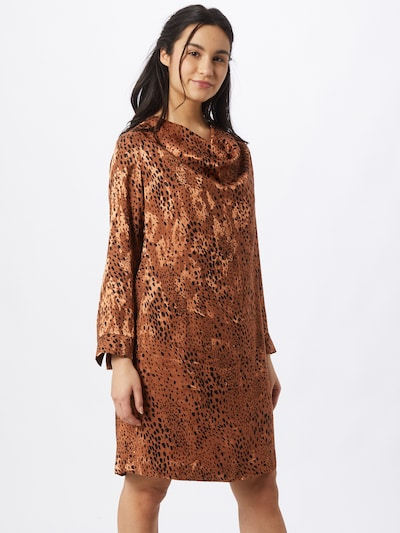 InWear Kleid 'Peelina' in braun / schwarz, Modelansicht