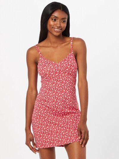 Rochie de vară HOLLISTER pe galben auriu / verde mentă / roșu cranberry / alb, Vizualizare model